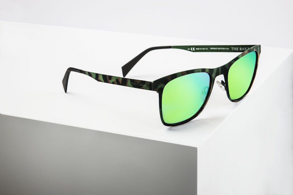 Italia independent for the rake hand painted camouflage for Lapo elkann glasses