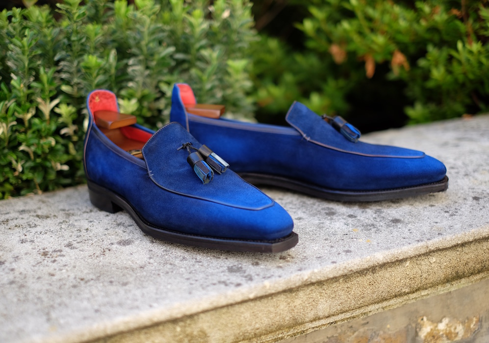 Blue Suede Horse Bit Loafers Corthay I5c6a