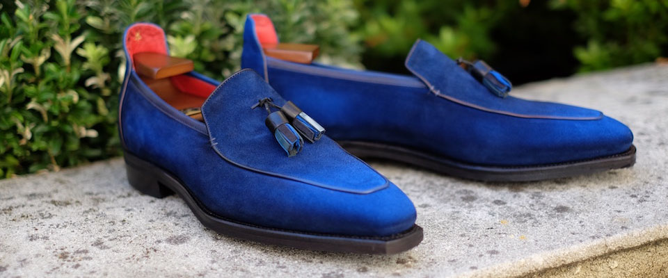 Blue Suede Shoes: Living With the Corthay For The Rake Patinaed Suede Loafers