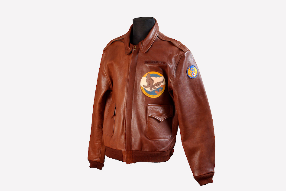 Mens leather bomber jacket glasgow