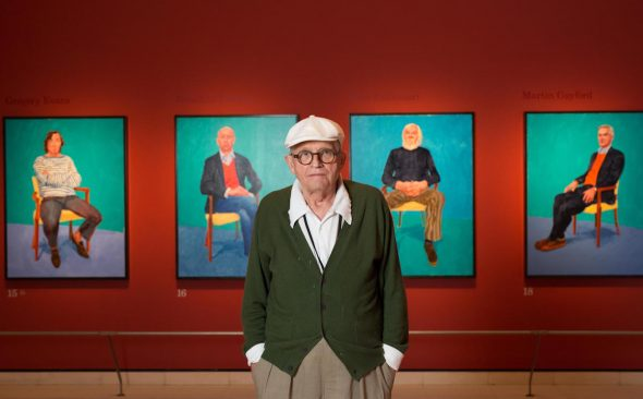 In The White Chair: David Hockney