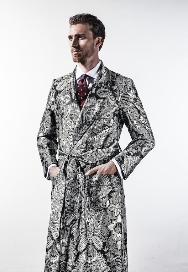 New & Lingwood for The Rake Silk Jacquard Dressing Gowns | The Rake