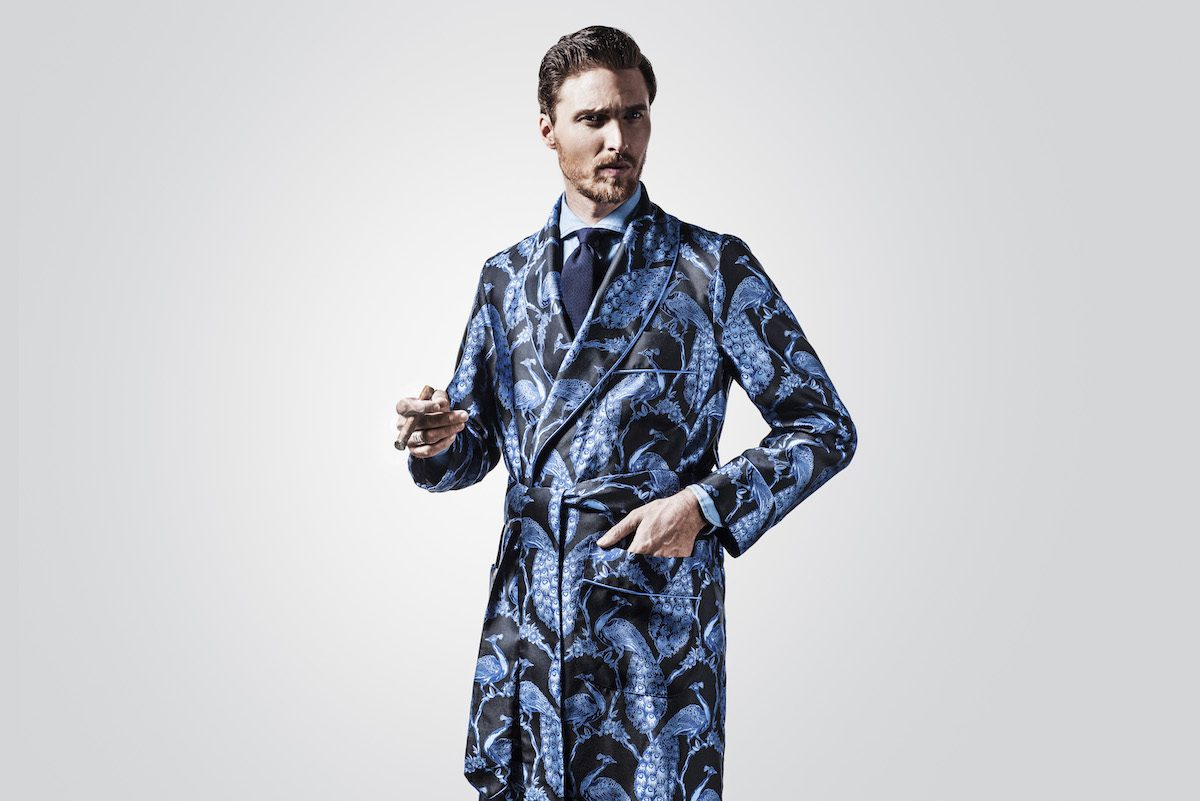 New & Lingwood for The Rake Silk Jacquard Dressing Gowns | The Rake