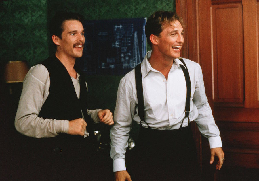 Ethan Hawke And Matthew McConaughey In The Newton Boys 1998 Photo By Deana Newcomb 20th Century F REX Shutterstock