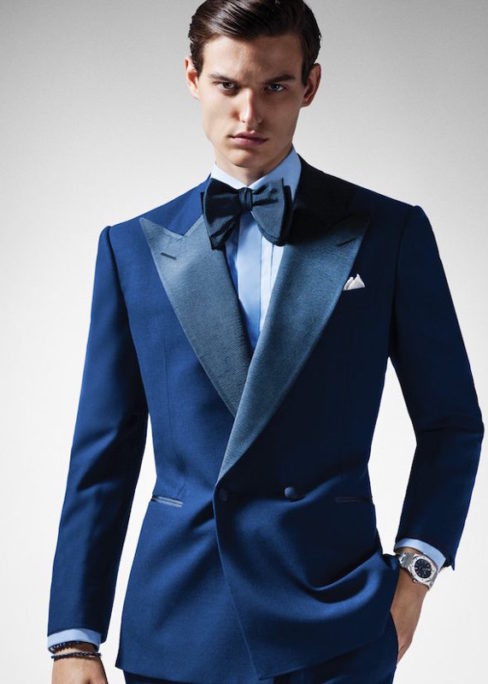 ed594c8322c Chester Barrie's midnight blue Kingly double-breasted dinner suit