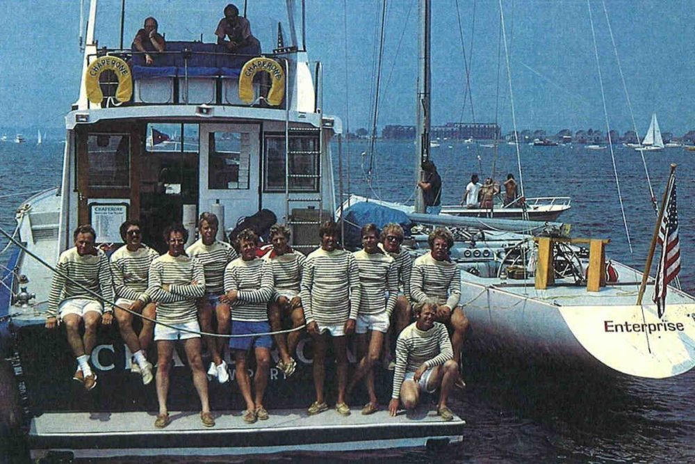 The Rake, Breton Stripes, 1977 America's Cup
