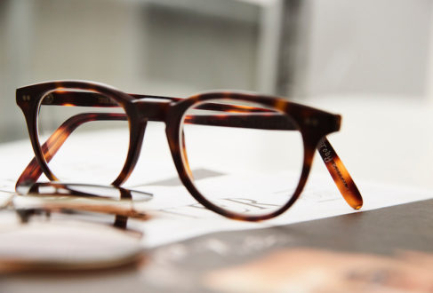 49c4b8bcfb7 These gorgeous Cutler and Gross matte tortoiseshell bespoke frames with his  name engraved in the inside