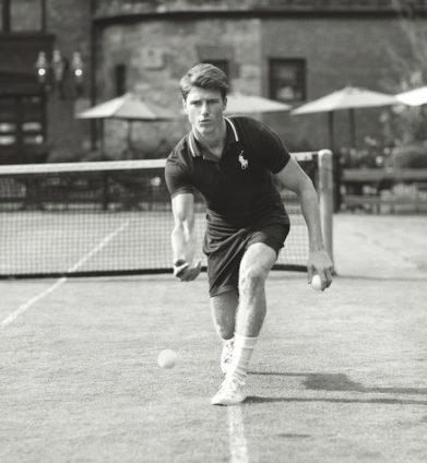 889c77824 Ralph Lauren ensures the ball boys and girls look sharp during Wimbledon,  in a navy