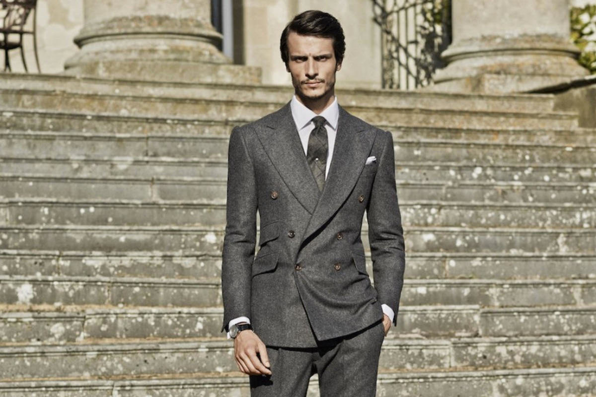 145d7394cc54 The shorter coat length, high lapel gorge and higher-than-normal breast and  hip pockets on this Cifonelli suit all work together to create an  impressive ...