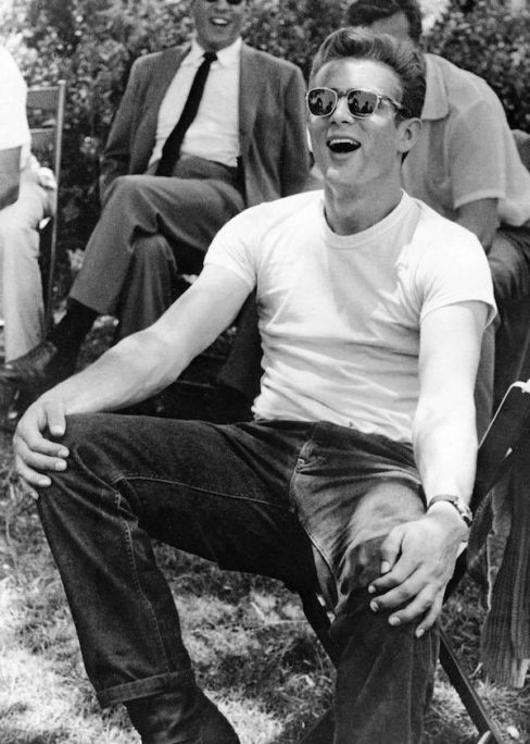 e296863658 James Dean on the set of Rebel Without A Cause