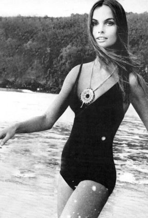 Jean Shrimpton In A Bathing Suit Photographed By David Bailey For US Vogue 1970