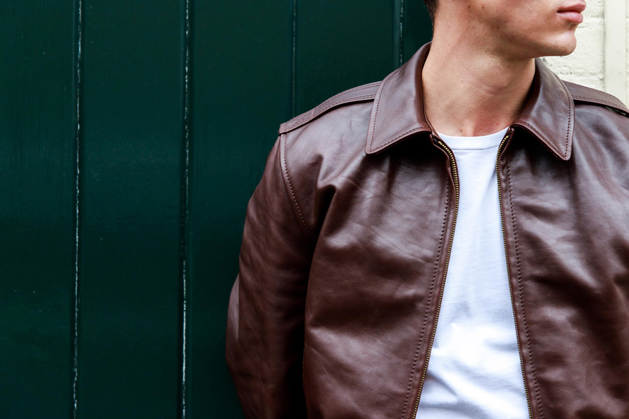 960c8c94cc7 The brown Happy Days jacket by Aero Leather. Photograph by James Munro.