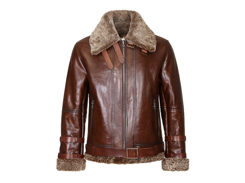 24008d8700e Cromford Leather Company  Douglas  Flight Jacket in Brown Leather