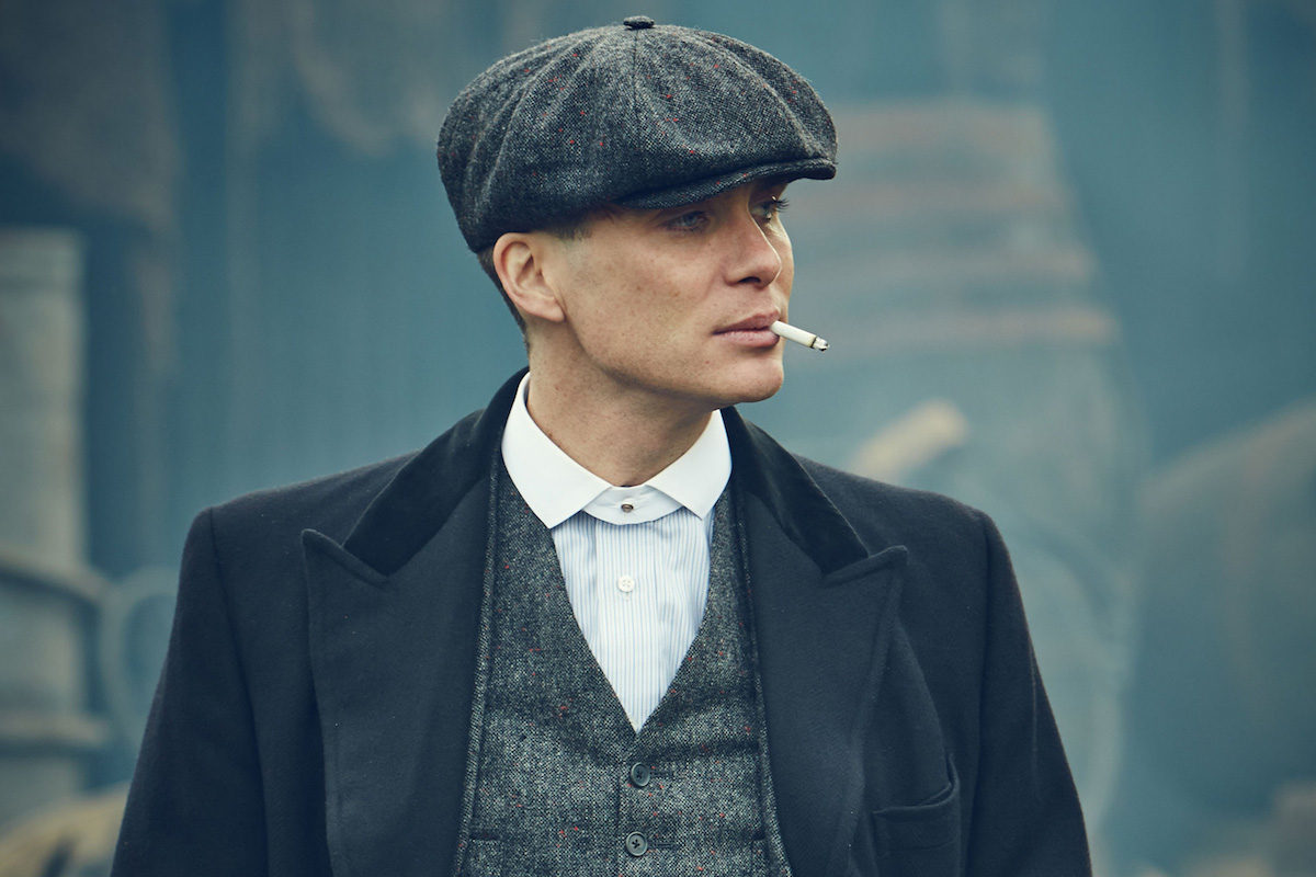 Cillian Murphy s character Tommy Shelby wears a peaked cap fa1655e469a