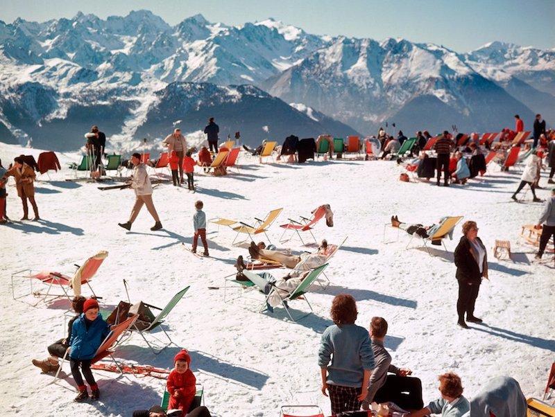 The Rake, Skiing, Slim Aarons