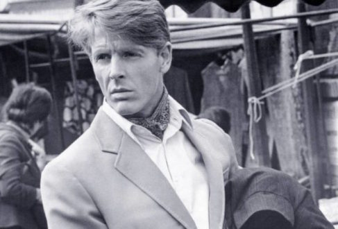 6731312cb16 Edward Fox wears his cravat neatly tucked into a white shirt beneath a wool  blazer in