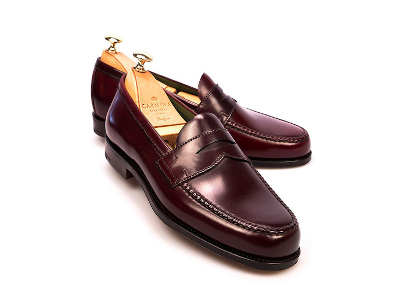 00e938a15 Carmina Penny Loafers in Burgundy Cordovan Leather