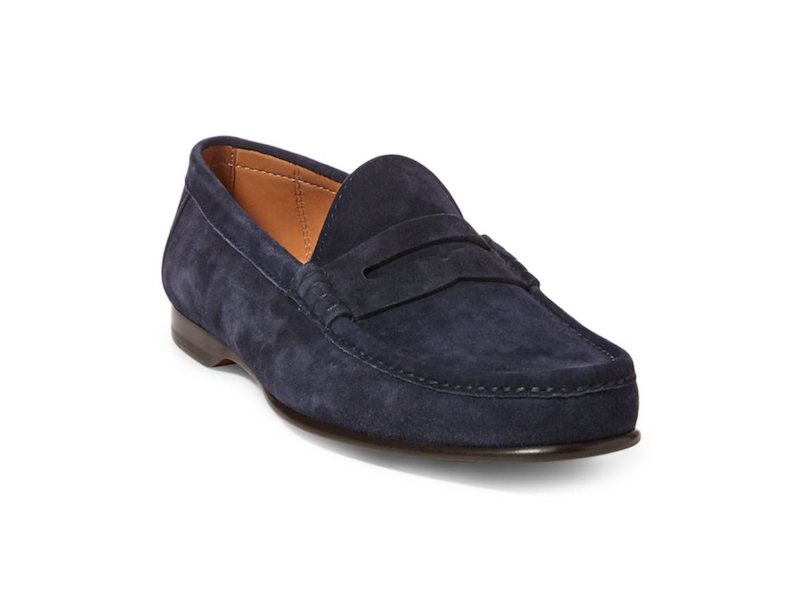 24db0c7dd Ralph Lauren Penny Loafers in Navy Suede