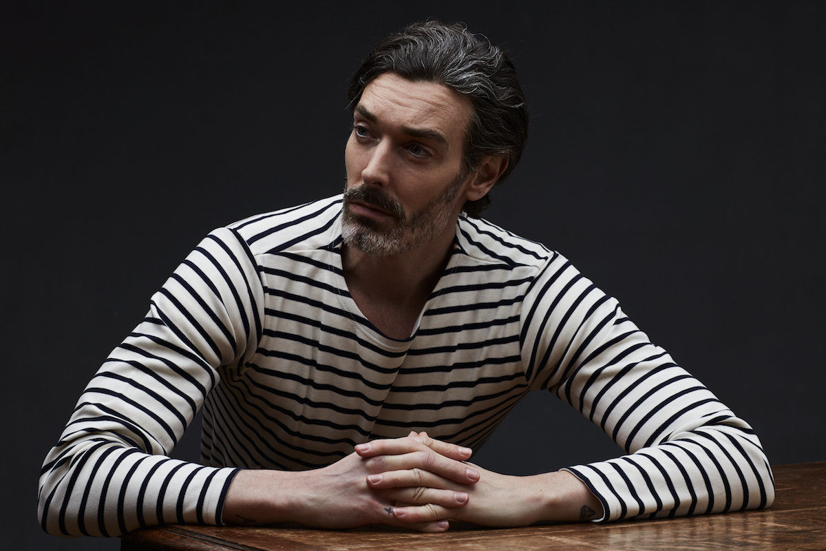 d98638b60ab486 Richard Beidul wears an Armor Lux cream and navy Breton stripe shirt.  Photograph by Olivier Barjolle, styling by Jo Grzeszczuk.