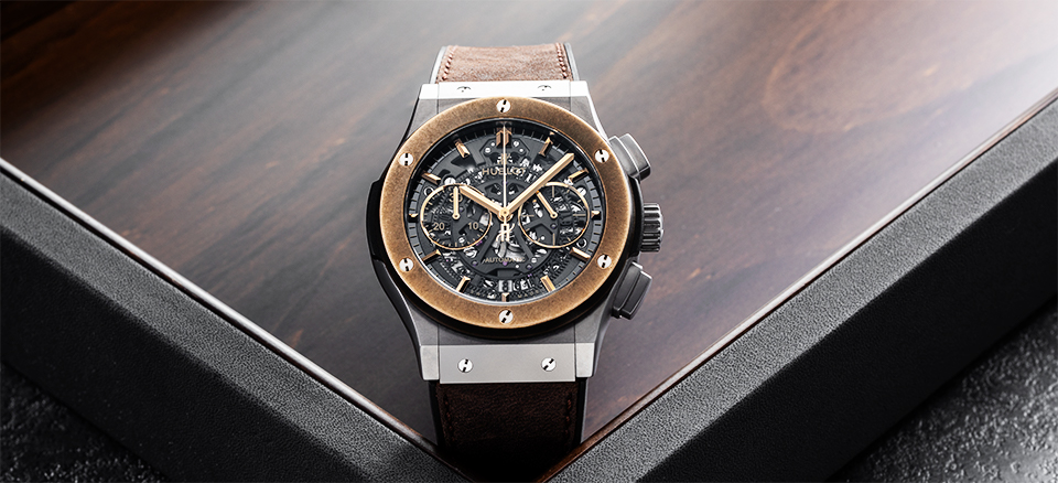 EXCLUSIVE! HUBLOT FOR THE RAKE AEROFUSION CHRONOGRAPH 'MOLON LABE'