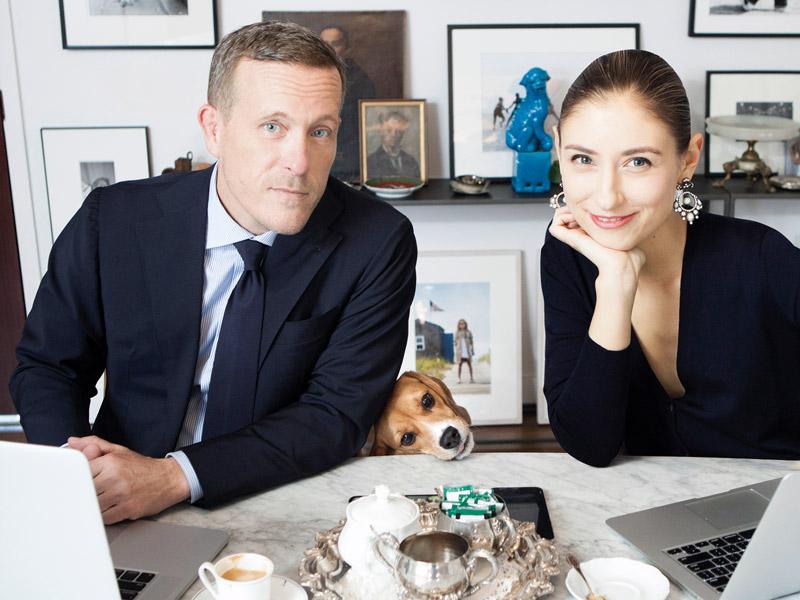 Scott Schuman mit schöner, Verlobte (v) Jenny Walton
