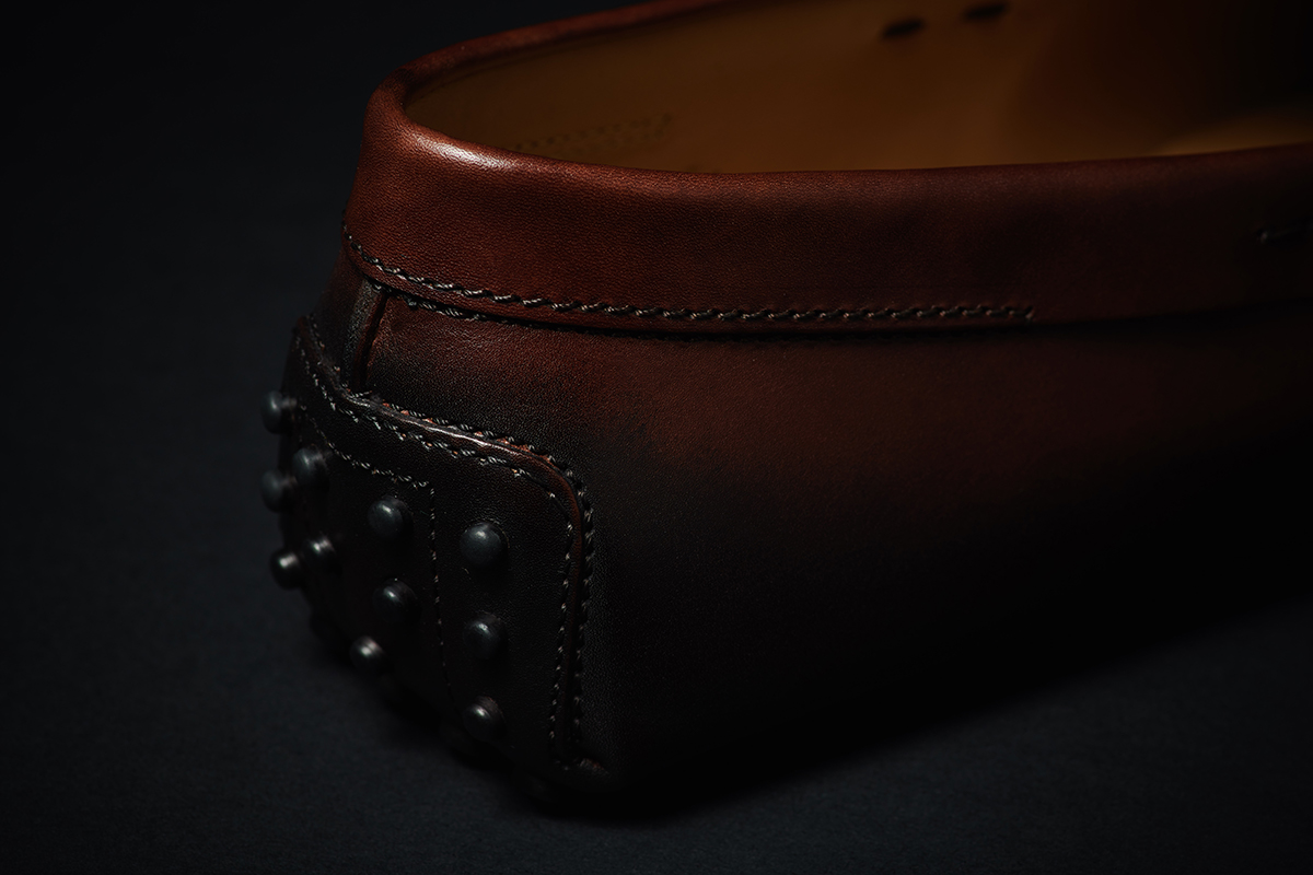4f857adeb ... the shoe is hand-brushed so that the special colour of the leather is  brought out and achieves prominence. This is the patinated effect that  makes every ...