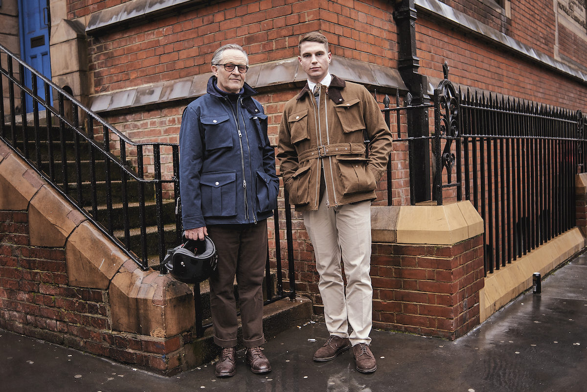 8faae85e0 Nick Ashley, Private White V.C.'s Creative Director, in the navy  Twin-Track, and Benedict Browne, The Rake's Associate Style Editor, in the  olive brown ...