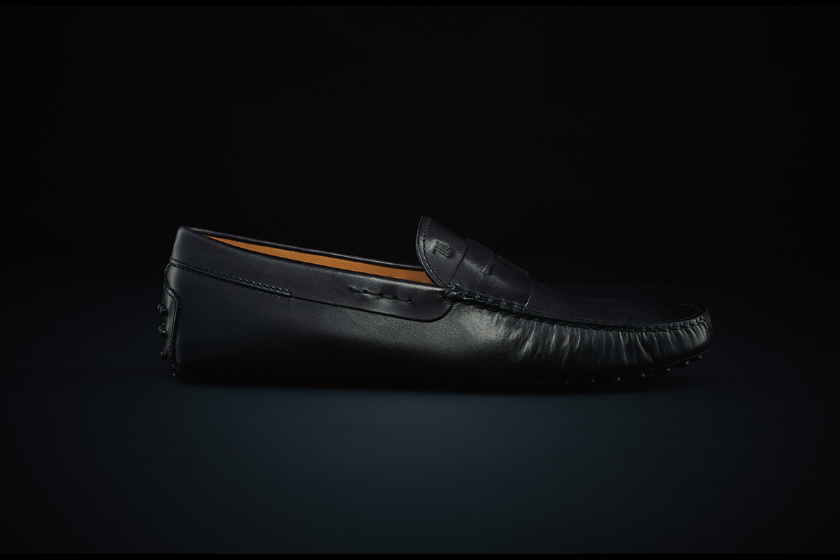 a000ed3a5 blackside. Black Hand-Patinated Leather Gommino Driving Shoes