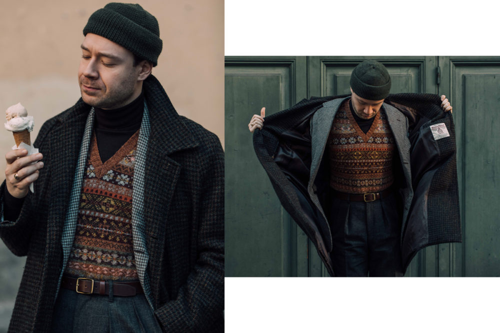 Aleks Cvetkovic sartorial details