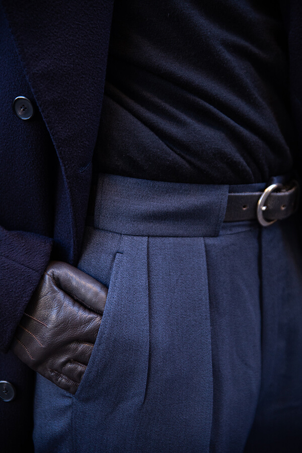blue and navy ensemble
